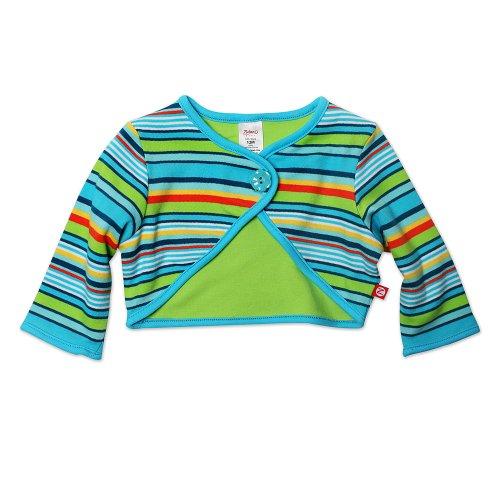 Zutano Baby Girls' Multi Stripe Shrug