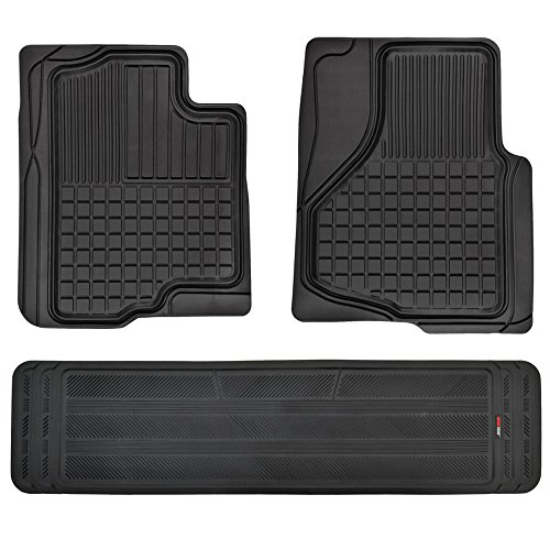 Motor Trend FlexTough Custom Liners Heavy Duty Rubber Floor Mats for Ford F-150 2009-2014 (3 Piece w/ Rear Liner)