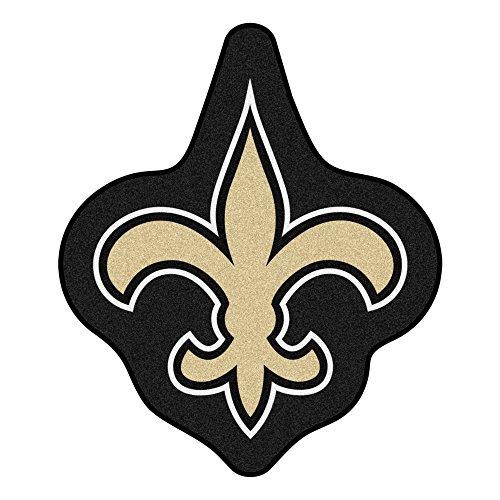 NFL New Orleans Saints Mascot Novelty Logo Shaped Area Rug