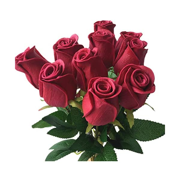 Artificial-Flowers-11P-Real-Touch-Rose-Flower-PinkBlueBlackRedYellowPurple-Pu-Roses-Artificial-Rose-43Cm-for-Wedding-Party-Decorative-Flowers60Cm-Rose-Red