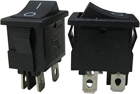TWTADE//10pcs Negro ON//OFF DPST 4 Pin 2 Posici/ón Mini Boat Rocker Interruptor Coche Auto Barco Rocker Interruptor Interruptor de Tanggle AC 250V//10A 125V//12A Garant/ía de Calidad para 1 A/ño XW-601BB1