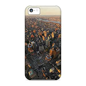 NicoECx Scratch-free Phone Case For Iphone 5c- Retail Packaging - New York Panorama