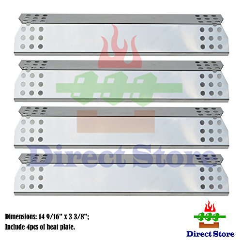 UPC 797566868471, Direct store Parts DP130 (4-pack) Stainless Steel Heat Shield / Heat Plates Replacement Sunbeam, Nexgrill, Grill Master, Charbroil , Kenmore, Kitchen Aid, Members Mark, Uberhaus, Gas Grill Models (4)