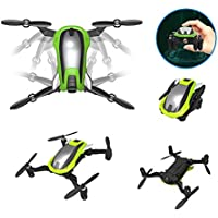 Remote Control Aircraft RC Quadcopter KD K100 WIFI 0.3 MP Aerial Shooting Altitude Setting Capable RC Quadcopters Four-axis Aircraft One-key Deformable Foldable RC Drone with Built-in Battery