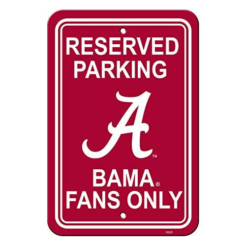 Official National Collegiate Athletic Association Fan Shop Authentic NCAA Parking Sign (Alabama Crimson Tide)