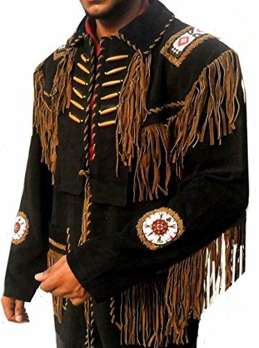 Classyak Western Leather Jacket, a Grade Suede Leather, Xs - 5xl (XXL) - Leather Western Jacket