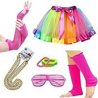 Accesorios de disfraz para atuendo de los años 80, talla para adultos