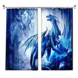 ZZHL Curtains Curtains,Hooks Rings Blackout Set Thermal Insulated Window Treatment Solid Eyelet Bedroom 2 Panels A7 (Size : 1.1x1.8m)