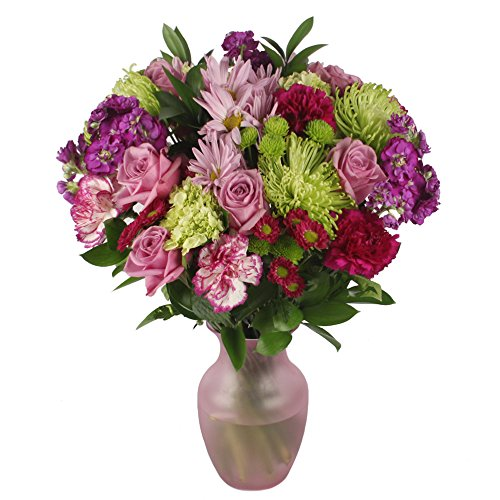 eFlowy Lavander Love Vase Floral Arrangement For Special Ocassions by eFlowy