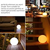"""GIWOX 4.7"""" Rechargeable LED Ball Light, Dimmable Children's Bedroom Lamps Night Indoor Mood Lighting with Remote - 16 Colors, 4 Dynamic Models Indoors Outdoor"""