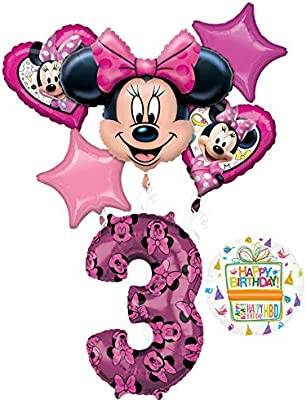 Amazon.com: Minnie Mouse suministros de fiesta de tercer ...