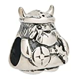 Viking Warrior Authentic 925 Sterling Silver Charm Bead Fits European Charms (Style 1)