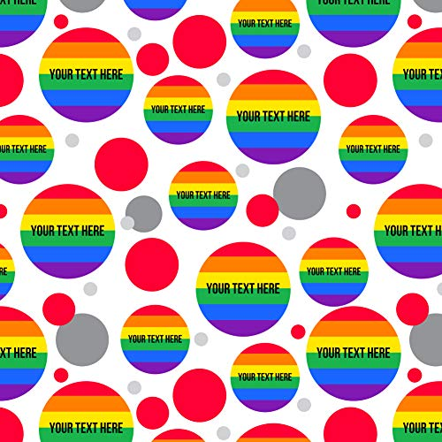 - GRAPHICS & MORE Personalized Custom Rainbow Pride 1 Line Premium Gift Wrap Wrapping Paper Roll