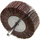 Forney 60183 Mounted Flap Wheel with 1/4-Inch Shank, 3-Inch-by-1-Inch, 120-Grit