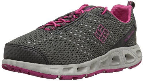 Columbia Kids' Youth Drainmaker III Water Shoe, Dark Grey/Ultra Pink, 4 M US Big Kid
