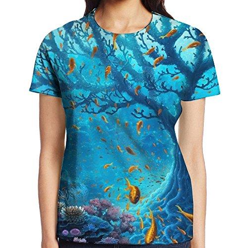 Bnm Underwater-world-2560x1440 Fashion Round Collar 3D Print Graphic Short-Sleeve T Shirts for -