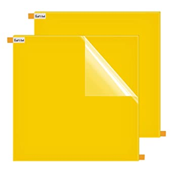 1//4 Clear Acrylic Sheet Craft DIY Display Projects Gartful 12x12 Inches Square Panel 6mm Thick Transparent Plexiglass Plastic Sheet Square Board with Protective Film for Signs