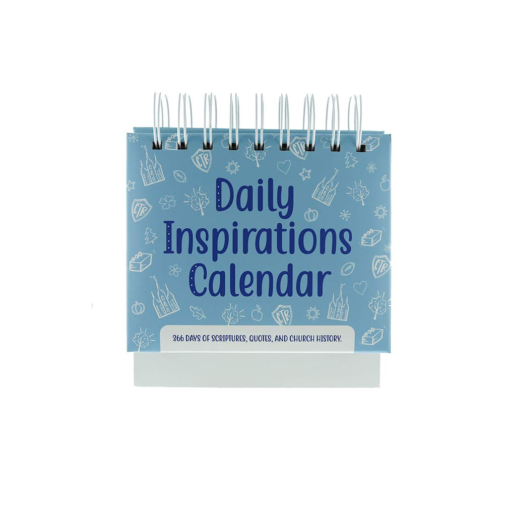 Daily Inspirations LDS Perpetual Desk Flip Calendar 2020 (365 Pages of  Quotes & History)