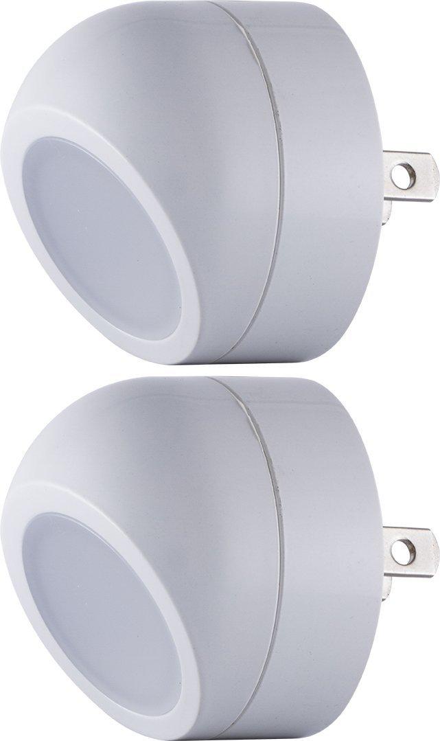 360/° Rotation Directional Spotlight Light Sensing 2 Pack Energizer Ideal LED Nightlights 40293 Jasco Soft White Auto On//Off