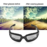 Motorcycle Riding Glasses Goggles, Outdoor Sunglasses Safety Padded Windproof Dustproof 100% UV Protection Biking Riding Cycling ATV Skiing Driving Climbing Fishing Hunting Sports, Unisex.