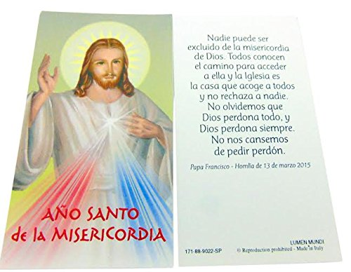 Price comparison product image Set Of 10 Holy Cards Conjunto de 10 Año de la Divina Misericordia Tarjeta Santo Mercancía Oficial De Italia