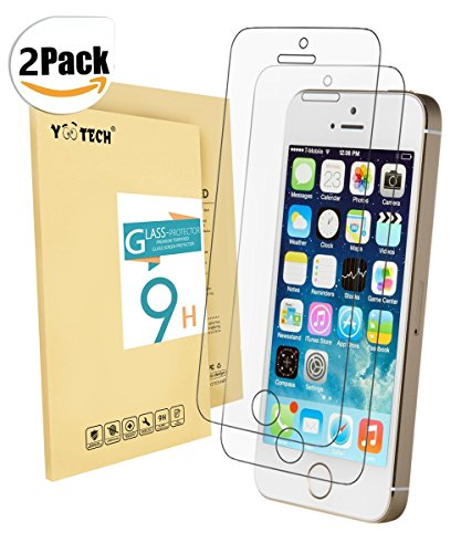iPhone SE Screen Protector ,Yootech [2-Pack] iPhone 5 5S 5C SE Tempered Glass Screen Protector for apple iPhone - Protectors Screen