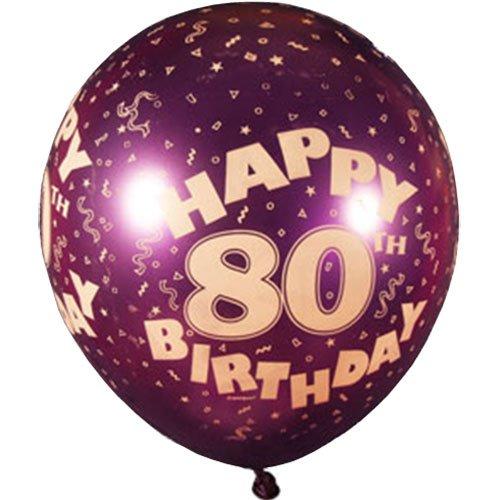 80th Birthday Balloons Amazoncouk Kitchen Home