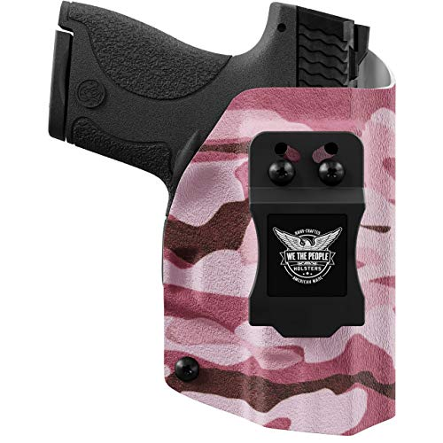 We The People - IWB Holster Compatible with Taser Pulse Gun - Inside Waistband Concealed Carry Kydex Holster (Left Hand, Pink Camo)