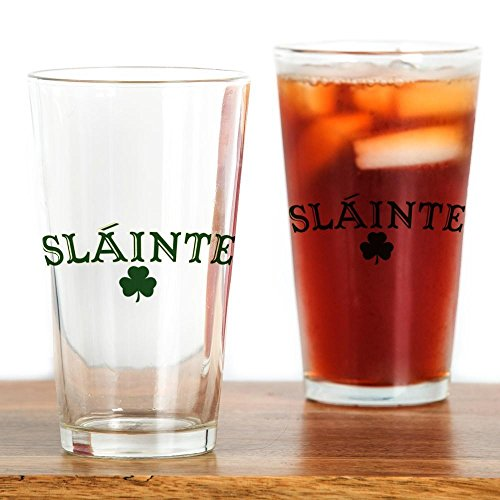 CafePress Slainte Toast To Your Health Pint Glass, 16 oz. Drinking Glass
