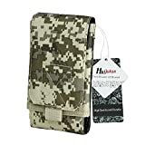 """Huijukon MOLLE Tactical Smartphone Pouch Military 1000D Nylon Hook Loop Belt Phone Holster Cover Case for 4.7"""" iPhone 7 iPhone 7 Plus 5.5"""" (Desert Digital)"""