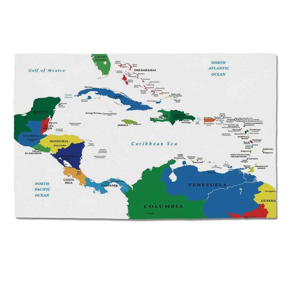 Amazon.com : YOLIYANA Map Durable Door Mat, Central America ... on barbados map, antigua and barbuda, maldives map, zimbabwe map, cayman islands, grenada map, americas map, jamaica map, st thomas map, el salvador map, haiti map, turks and caicos islands, trinidad and tobago, dominican republic, caribbean map, montserrat map, st. kitts map, the bahamas, georgia country map, malta map, st. lucia map, martinique map, saint lucia, costa rica map, dominican republic map, iceland map, fiji map,