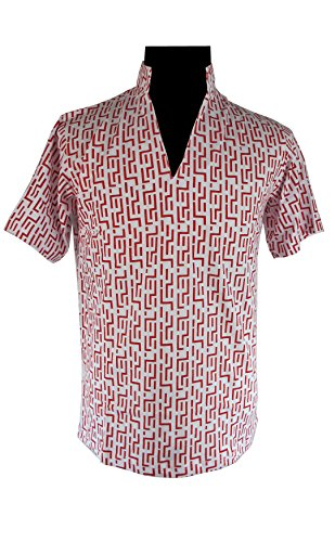 Raoul Duke Costume (Red Pattern Fear and Loathing in Las Vegas Raoul Duke Shirt Costume (XL))