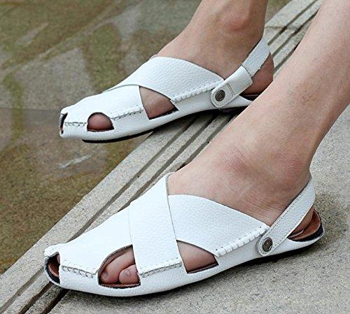 Verano de los nuevos hombres sandalias sandalias de los hombres sandalias casuales de la vaca real 3