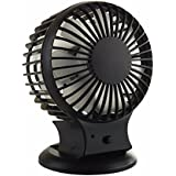 5 Inch Table USB Fan Mute Mini Fans for Home Office Portable Air Conditioner Air Conditioning Handheld Fan Cooling Ventilators (black)