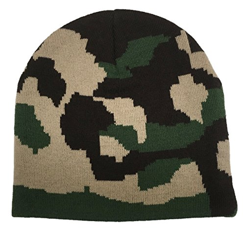 Kids Camouflage Caps (N'Ice Caps Kids Double Knitted Camo Print Beanie Hat (8-12 Years, Green Camo))