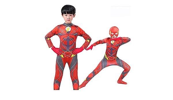 CSLOKTY 3D Kid The Flash Cosplay Disfraz Traje Siamés ...