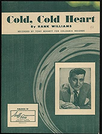 Cold Cold Heart sheet music by Hank Williams