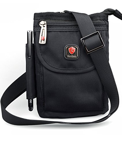 - Ranboo Multifunctional Cellphone Purse Crossbody Shoulder Bags Belt Loop Pouch Travel Waist Packs Strap for iPhone XS Max iPhone 8 Plus 7 Plus Note 8 5 S9/ S8 Plus Outdoor Sports Climbing Hiking Black