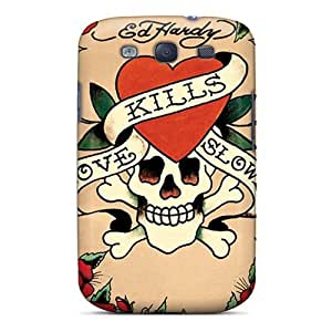Ideal MXcases Case Cover For Galaxy S3(ed Hardy), Protective Stylish Case