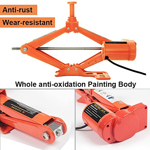 Electric Car Floor Jack 5 Ton All-in-one Automatic 12V Scissor Lift Jack Set for Sedans SUV w/Remote Tire Change Repair Emergency Tool Kits Floor Jack for Vehicle Truck Van Wheel Change by Reliancer (Image #6)