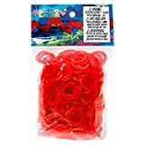 jelly bands rainbow loom - Official Rainbow Loom 600 Ct. Rubber Band Refill Pack *JELLY* RED [Includes 25 C-Clips!]