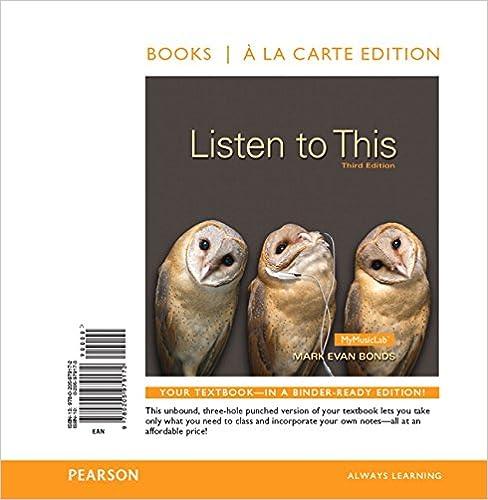 Amazon com: Listen to This, Books a la Carte Edition (3rd Edition