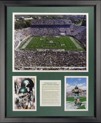 "Legends Never Die Michigan State University - Spartan Stadium Framed Photo Collage, 16"" x 20"""