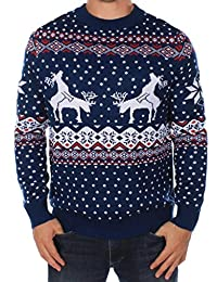 Men's Reindeer Climax Ugly Christmas Sweater