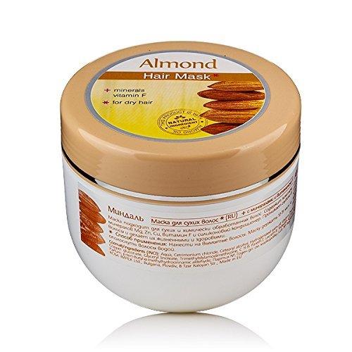 Mandel - Haarmaske mit Mandelöl und Vitamin F für trockenes und behandeltes Haar verbessert den Glanz Rosa Impex