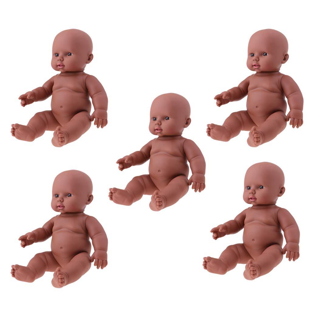 Homyl 5pcs 30cm 12  Vinyl Reborn Silicone Baby Doll Kid Sleeping Toy Bath Gioca Giocattolo