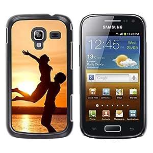 LECELL--Funda protectora / Cubierta / Piel For Samsung Galaxy Ace 2 -- Puesta del sol de la felicidad --