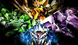 Mobile Suit Gundam 00 PLAYMAT CUSTOM PLAY MAT ANIME PLAYMAT #172 by MT