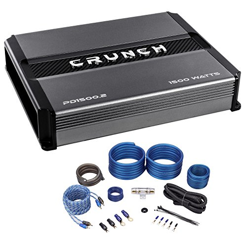 Crunch PD1500.2 1500w 2-Channel Pro Power Car Stereo Amplifier Class AB+Amp Kit
