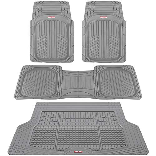 Motor Trend Premium FlexTough All-Protection Cargo Liner - DeepDish Front & Rear Mats Combo Set - w/Traction Grips 2008 Saturn Vue Cargo